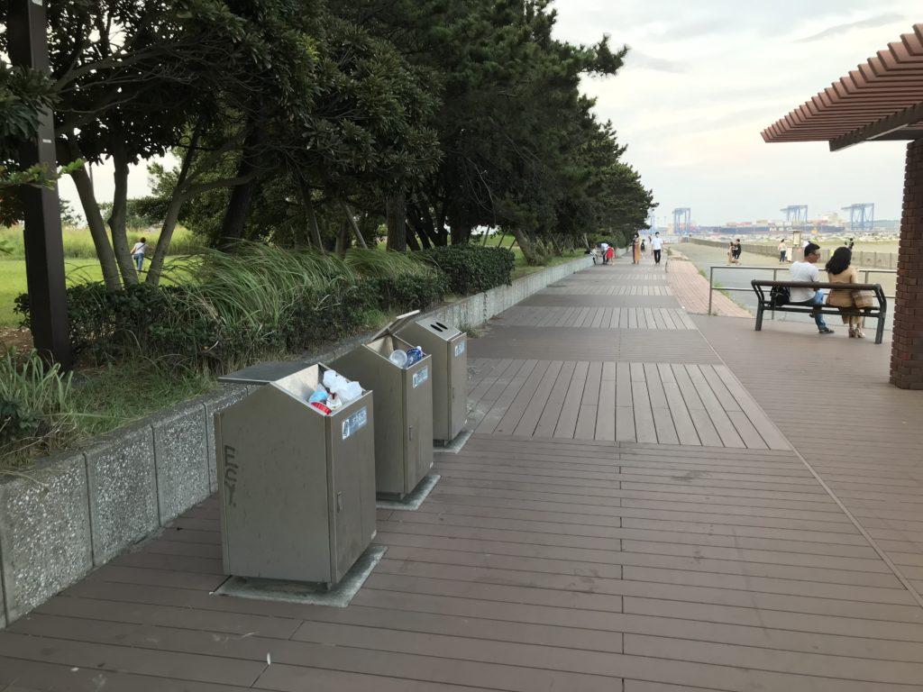 城南島のゴミ箱