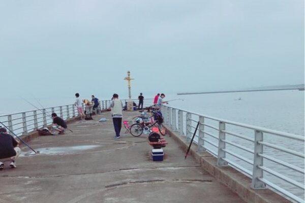 検見川浜突堤先端